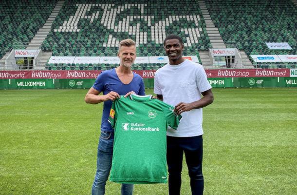 Kwadwo Duah signs for Swiss side St. Gallen FC