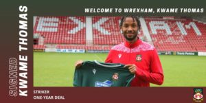 VIDEO: New Wrexham signing Kwame Thomas grants first interview