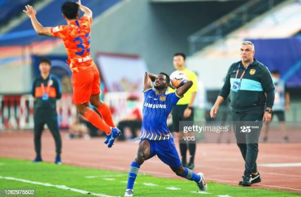 Mubarak Wakso stars on his debut for Jiangsu Suning in draw against Shandong Luneng