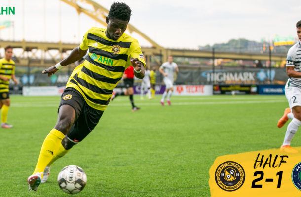 VIDEO: Man of the match Ropapa Mensah scores as Hounds draw with Saint Louis in USL