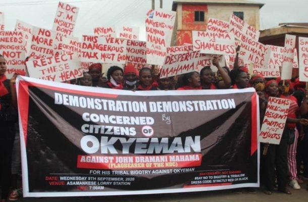 PHOTOS & VIDEOS: 'Akyem Sakawa Mafia' demo underway at Asamankese
