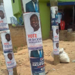 Tension in Anyaa-Sowutuom NPP as Bawumia's face is covered with posters