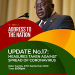 Prez Akufo-Addo to address Ghanaians on Coronavirus update tonight