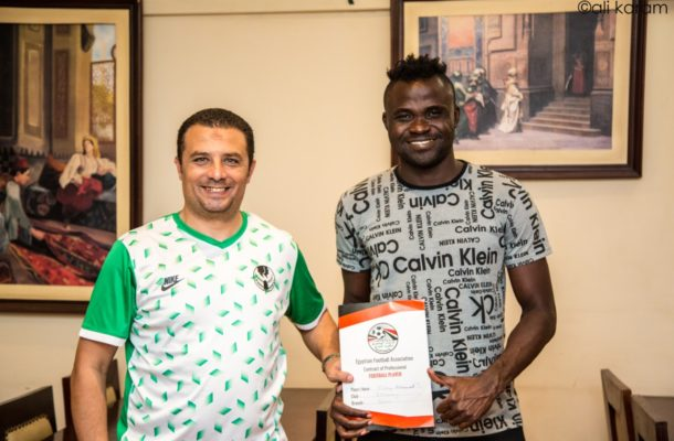 Former Liberty Professionals striker Mohammed Cissey completes move to Egyptian side Elkawmy [PHOTOS]