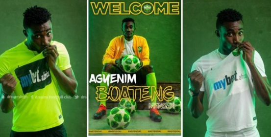 Dreams FC signs exciting striker Agyenim Boateng from Nzema Kotoko