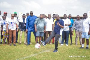 I stopped playing football due to bad tackles - Dr Bawumia
