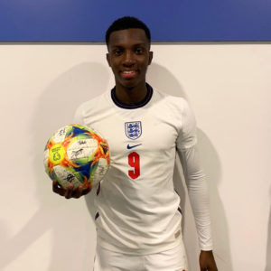 VIDEO: Ghana target Eddie Nketiah nets hattrick as Callum Hudson-Odoi also scores for England U-21