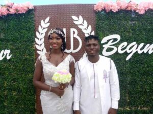 PHOTOS: Kotoko striker William Opoku Mensah marries pretty girlfriend