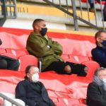 K.P Boateng pictured watching his new side Monza in Serie B game