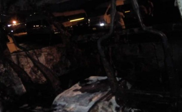 PHOTOS: Members of secessionist group attack STC; beat up drivers, burn down bus