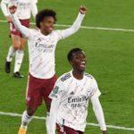 Carabao Cup: Eddie Nketiah scores as Arsenal beat Leicester City