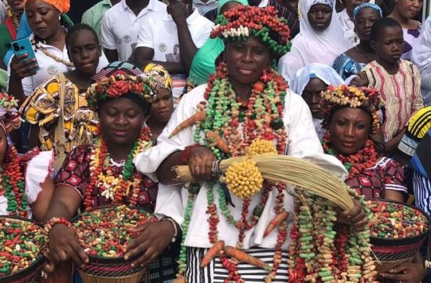 Photos: Colourful cultural display at the coronation of a new Bissa Chief of Gomoa Buduburam