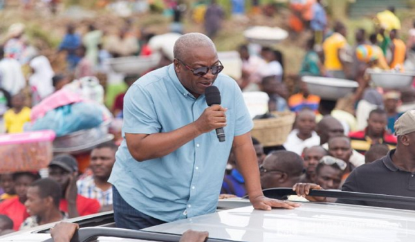 John Mahama begins campaign tour in Central Region