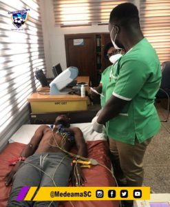 PHOTOS: Medeama players and technical team undergo medical screening ahead of new season