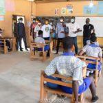 E/R: New Juaben South PC Okyere Baafi donates math-sets to BECE candidates
