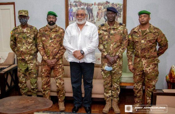 Rawlings receives Malian coup makers