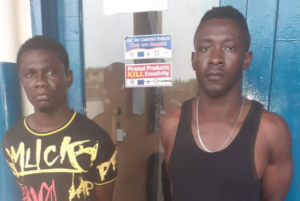 C/R: Policeman, one other arrested for robbery