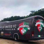 Karela United outdoors brand new bus