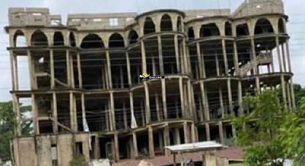 The state of the Akyem Batabi Church building before it collapsed