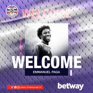 Official: Striker Emmanuel Paga joins Liberty Professionals