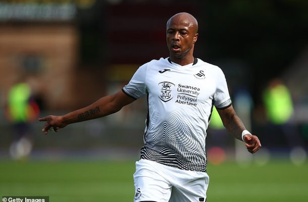 Andre Ayew scores in Swansea's 3-1 home loss to Bristol City