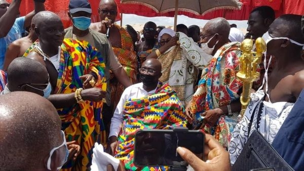PHOTOS: Dr. Bawumia enstooled as Chief in Ashanti region
