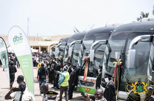 President Akufo-Addo present 100 Buses to STC Coaches Limited