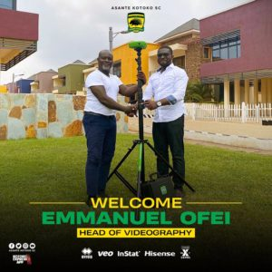 Kotoko take delivery of Veo cameras appoints Emmanuel Offei as head of Videography