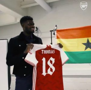 PHOTOS & VIDEOS: Arsenal outdoors new signing Thomas Partey