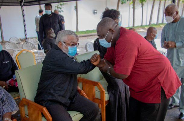 PHOTOS: Koku Anyidoho visits Rawlings