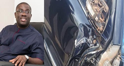 PHOTOS: Sammy Awuku involved in accident
