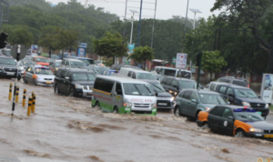 VIDEO: Parts of Accra flooded after 1-hour downpour