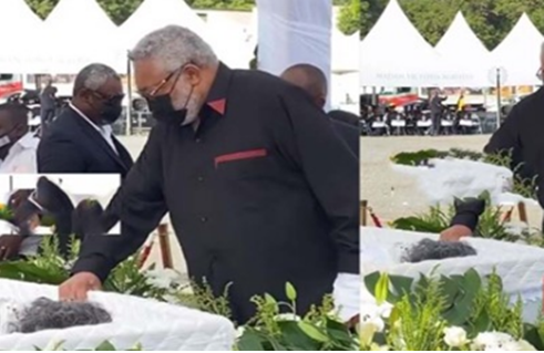 VIDEO: Ex-President Rawlings' mother laid to rest