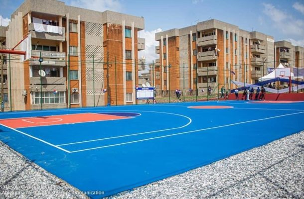 Election 2020: Hon Ursula Owusu commissions new Basketball Court in Dansoman