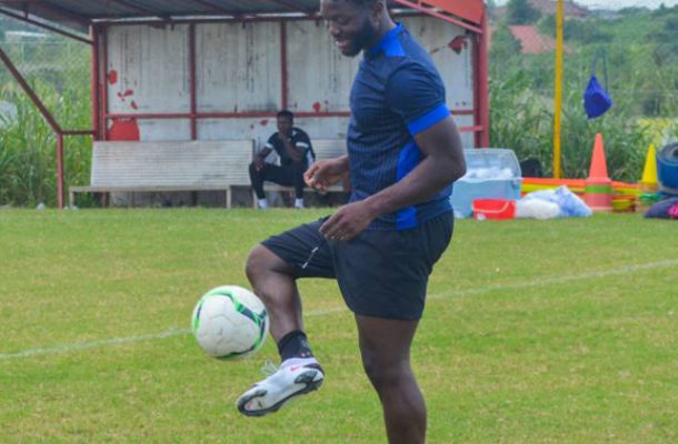 PHOTOS: New Kotoko signing Muniru Sulley trains for the first time with the team