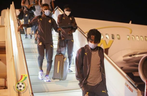 PHOTOS: Black Stars arrive in Sudan ahead of AFCON qualifier