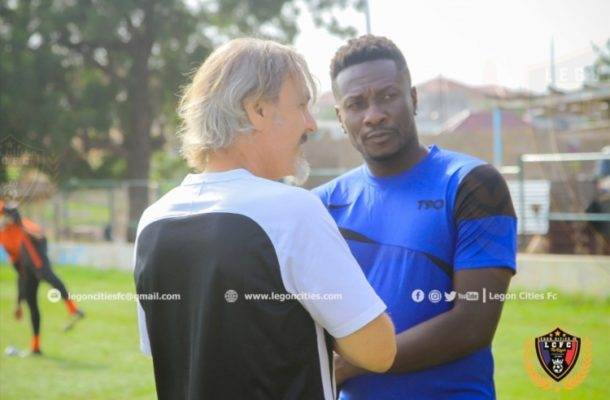 Asamoah Gyan will start playing very soon - Legon Cities coach