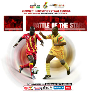 Tony Yeboah to captain star studded PFAG legends in 'Battle of the Stars' game