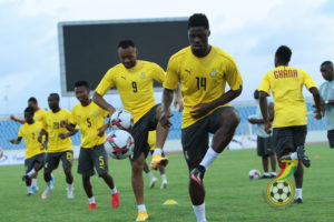 PHOTOS: Black Stars hold last training session before facing Sudan