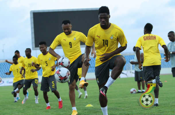 PHOTOS: Black Stars hold last training session before facing Sudan