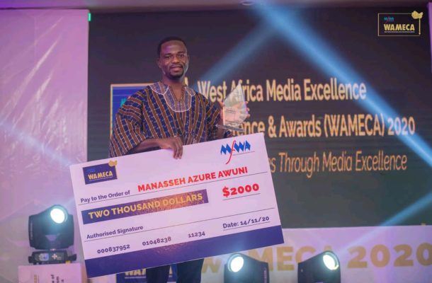 WAMECA 2020: Manasseh Azure crowned Overall Best Journalist in West Africa