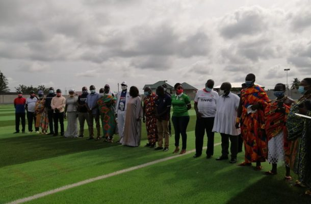 GNPC hands over Astro Turf pitch at Crosby Awuah Memorial Park to Karela United