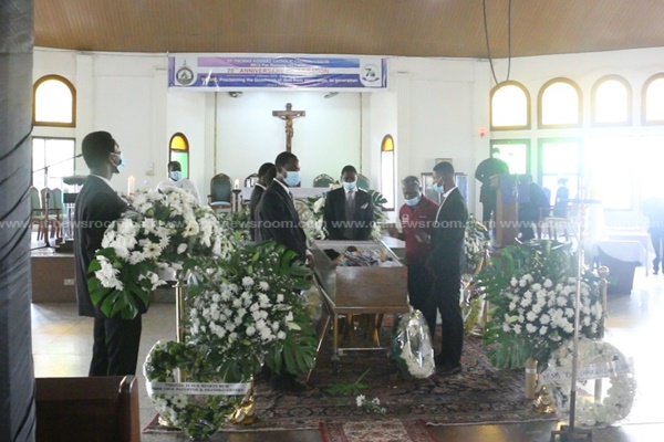 PHOTOS: Murdered UG law lecturer Prof. Emmanuel Yaw Benneh laid to rest