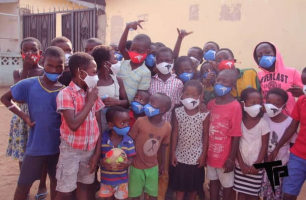 PHOTOS: Thomas Partey shares branded nose mask to communities in Accra