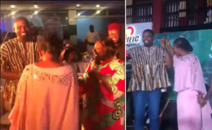 VIDEO: NDC's John Dumelo and NPP's Lydia Alhassan dance together at event
