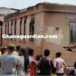 A/R: Fire destroys house at Tafo