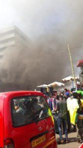 VIDEO: Fire guts Ghana Commercial Bank Kantamanto branch