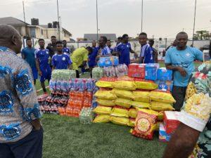 PHOTOS: Xmas comes early for Great Olympics as Nana Aba Anamoah donates to team
