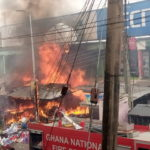 Fire destroys shops in Koforidua central business district