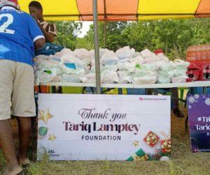 PHOTOS: Tariq Lamptey donates to kids at Nuaso in the Eastern Region